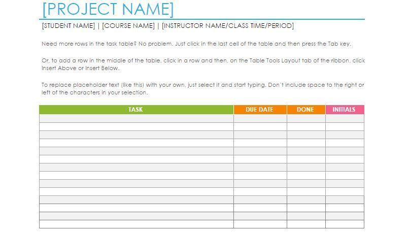 Free Task List Word Template  Sharetemplates  Presentation