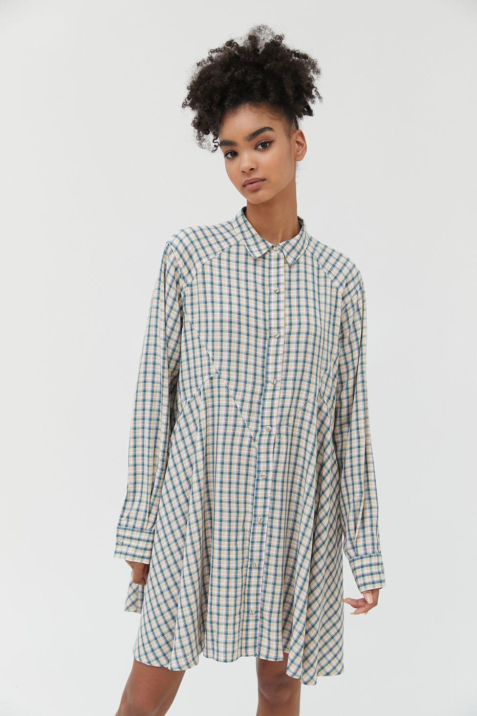 Bdg Amika Long Sleeve Shirt Dress Urban Outfitters Dress Shirt Sleeves Long Sleeve Shirts Long Sleeve Shirt Dress [ 1463 x 976 Pixel ]