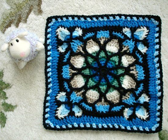 Stained glass afghan crochet pattern. - Crafts - Free Craft | haak ...