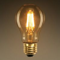 Led Victorian Bulb Vertical Filament 3 5 Watt 350 Lumens 40 Watt Equal 2700 Kelvin Tinted Glass Dimmable Luces