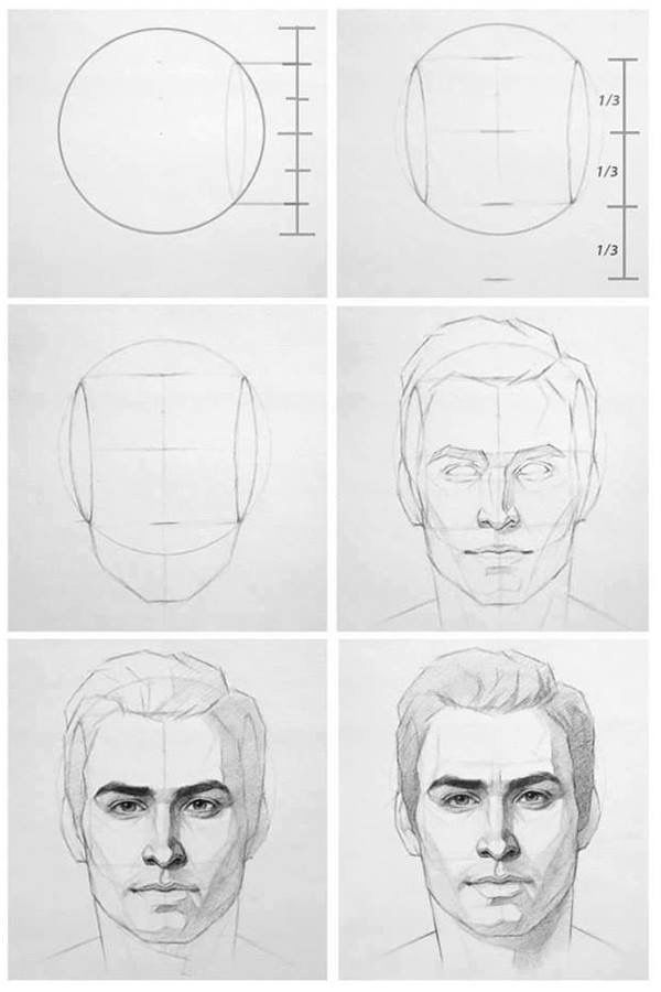 Face Drawing Reference Drawing Step Drawings 1 Pinterest