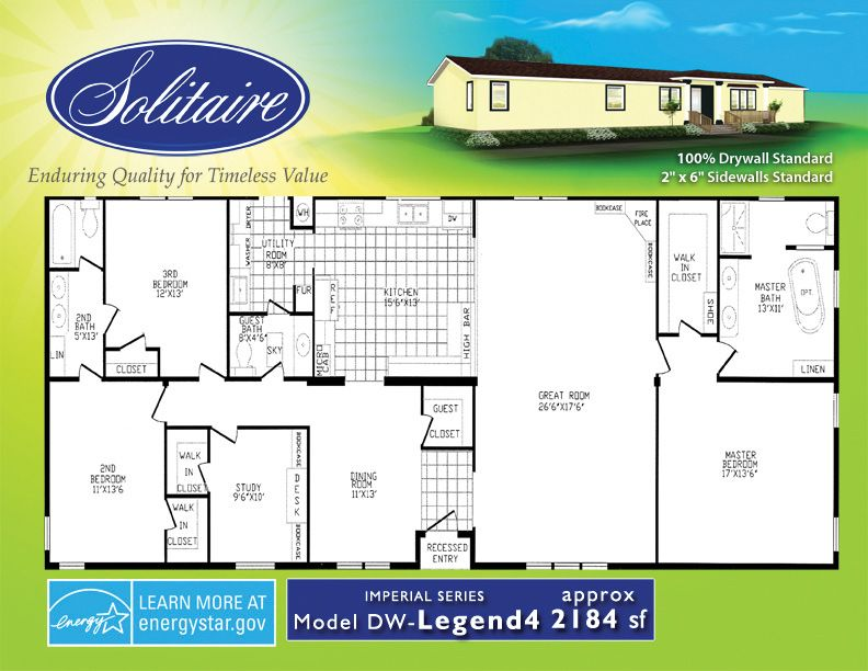 floorplans from solitaire homes floor plans pinterest