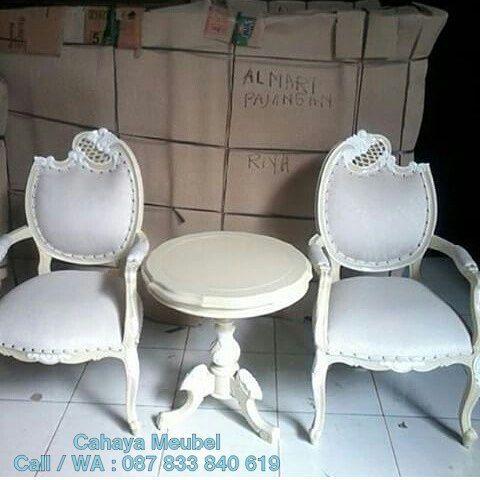 Kursi Teras Duco Putih Ukir Jepara  #KursiTeras Kursi Teras Duco Putih Ukir Jepara #furnitureonlinestore