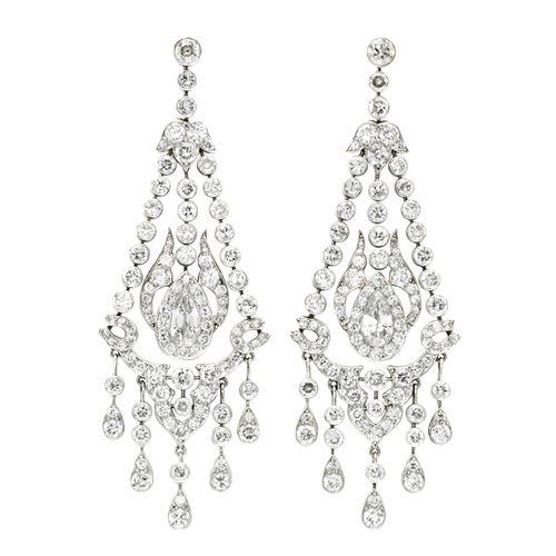 Art Deco Chandelier Diamond Earrings | Art deco, Jewel and Diamond