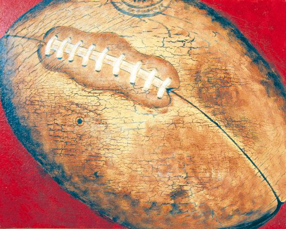 Football canvas - sports art- all star bedroom- boys room- art for ...