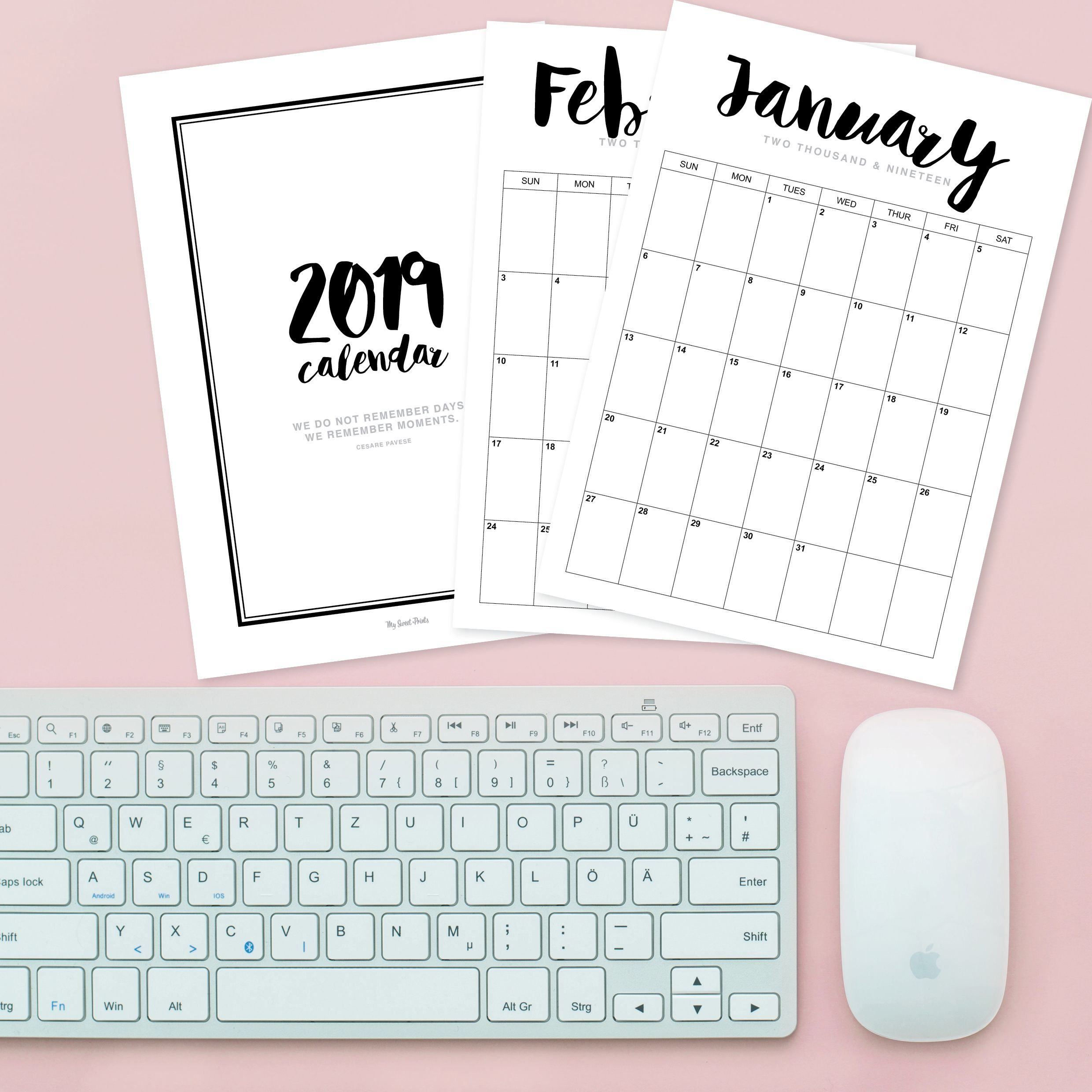 Download and print at home this 2019 calendar | Stationery and Paper