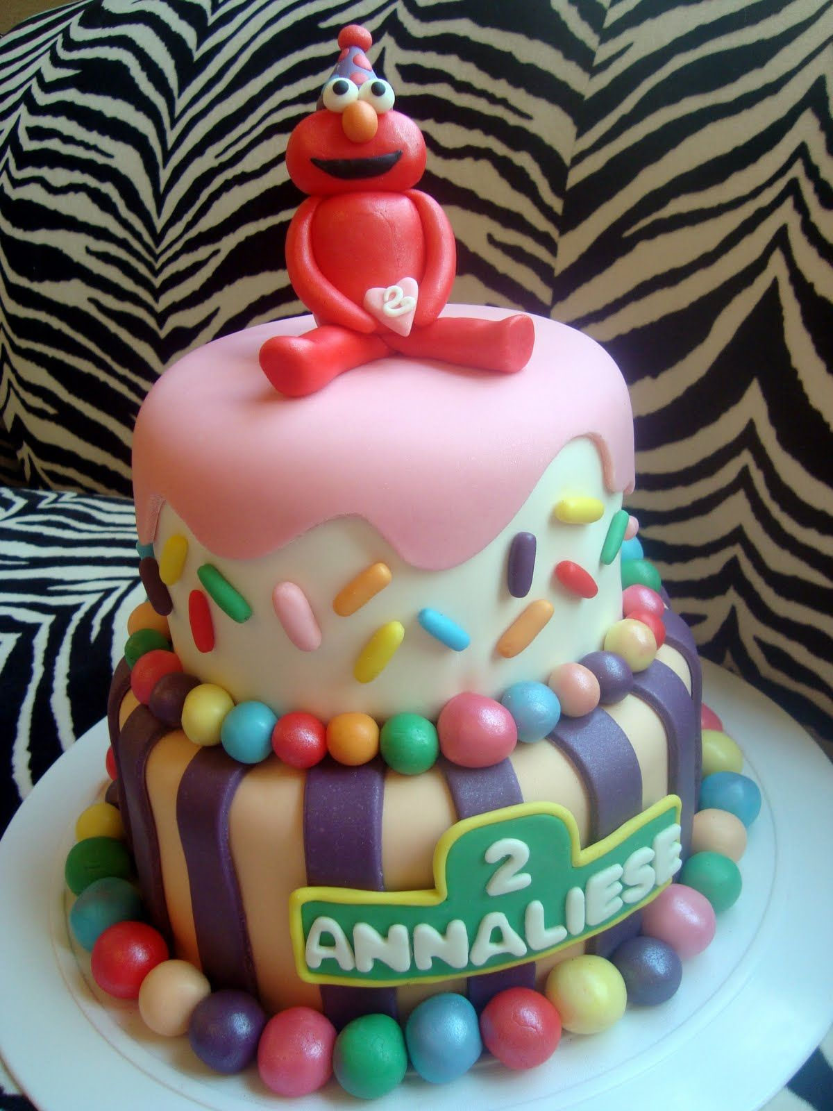 2nd Birthday Party...Elmo! 2 year old birthday cake