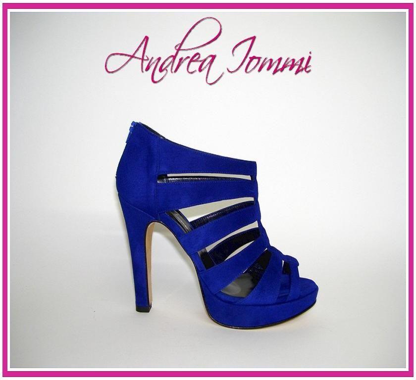 1da836bd8f495 sandali tacco alto in camoscio blu elettrico . collezione scarpe sposa e  cerimonia 2015 Andrea Iommi