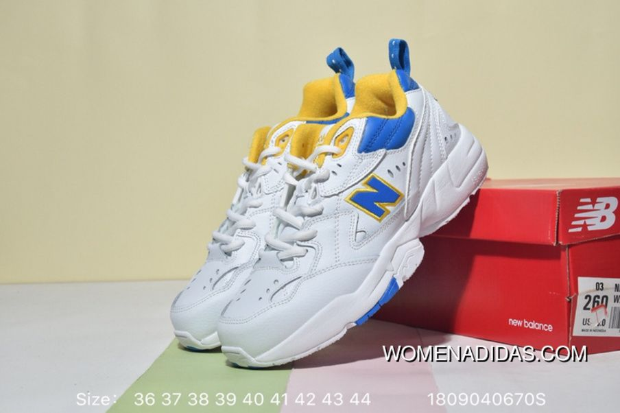 81d27a228ef7f New Balance NB608 WX608WP1 Training Running Shoes Retro Korea Genuine  Leather White Powder Jogging Daddy Shoes