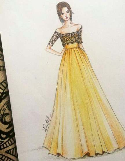 Popular Pins Fashion Illustration Sketches Dresses Dress Design Drawing Fashion Drawing Dresses