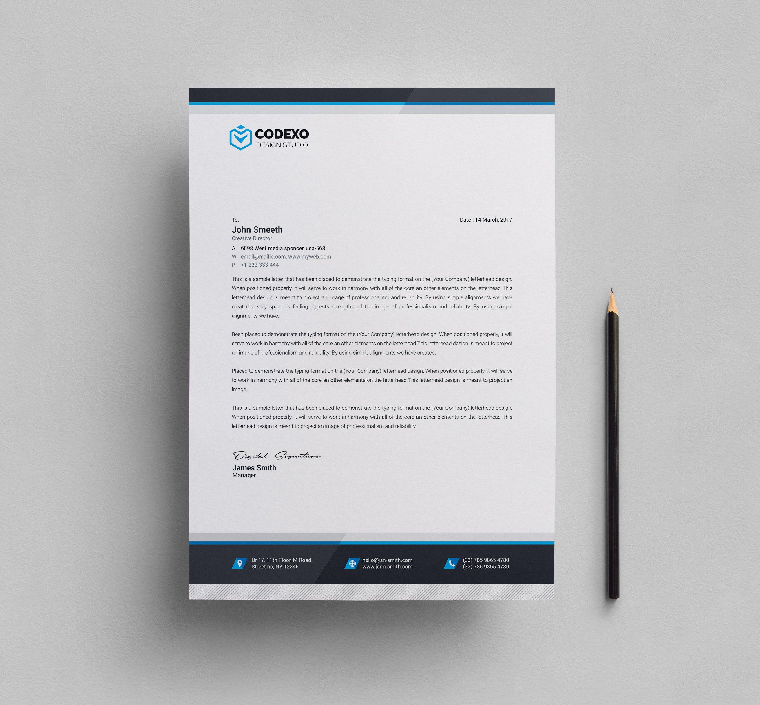 Letterhead Template Company letterhead template