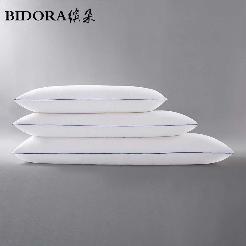 Bidora Down Pillow 90 White Duck Down Double Couples Pillows Duck Down Feather Pillows 100 Cotton Custom Manufact Feather Pillows Couple Pillow Down Pillows