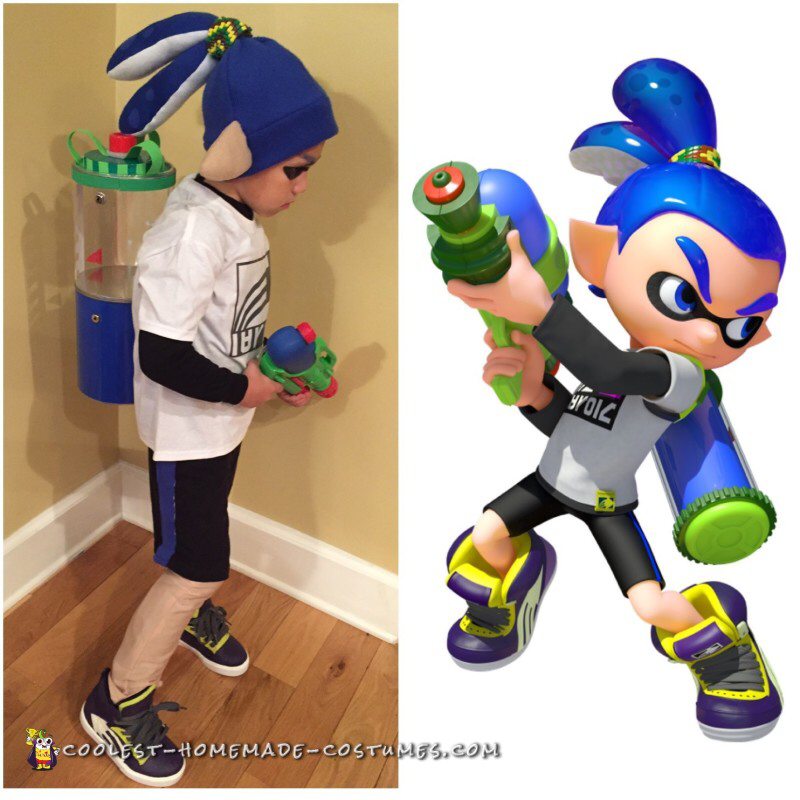 Inkling Boy Costume from Splatoon #deguisementfantomeenfant Inkling Boy Costume from Splatoon #deguisementfantomeenfant