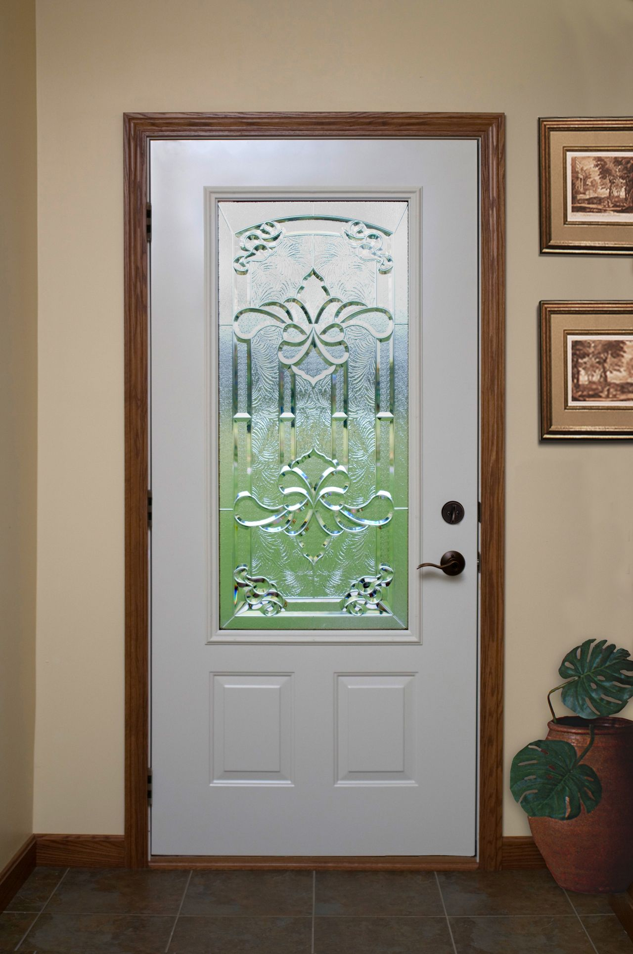 Fill Your Home With Light And Maintain Your Privacy With This Laminated  Decorative Glass From ProVia. Storm DoorsDecorative ...