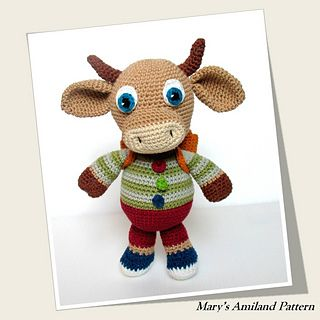 Ravelry: Charley Bull Cow The Ami pattern by Mary's Amiland