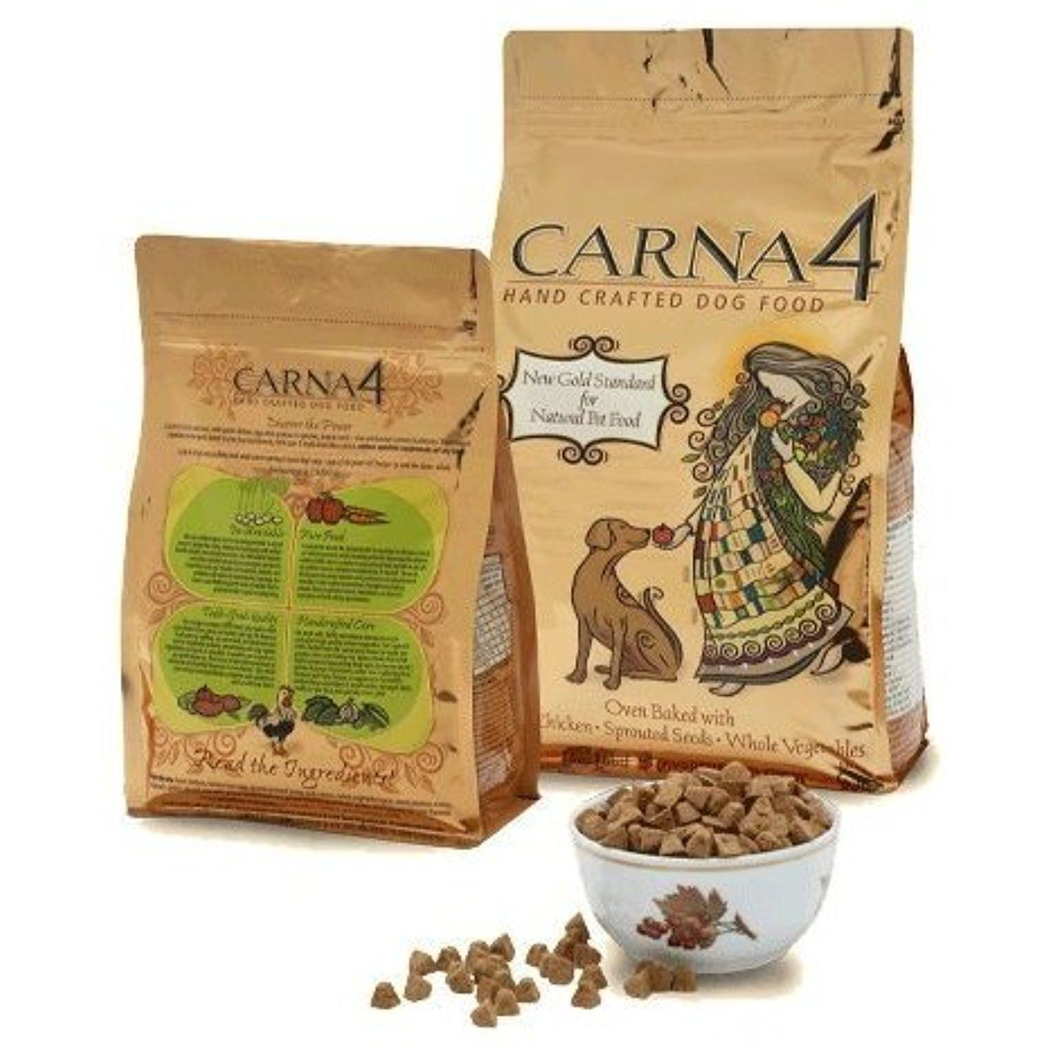 Carna4 Hand Crafted Dog Food, 6Pound, Chicken You can