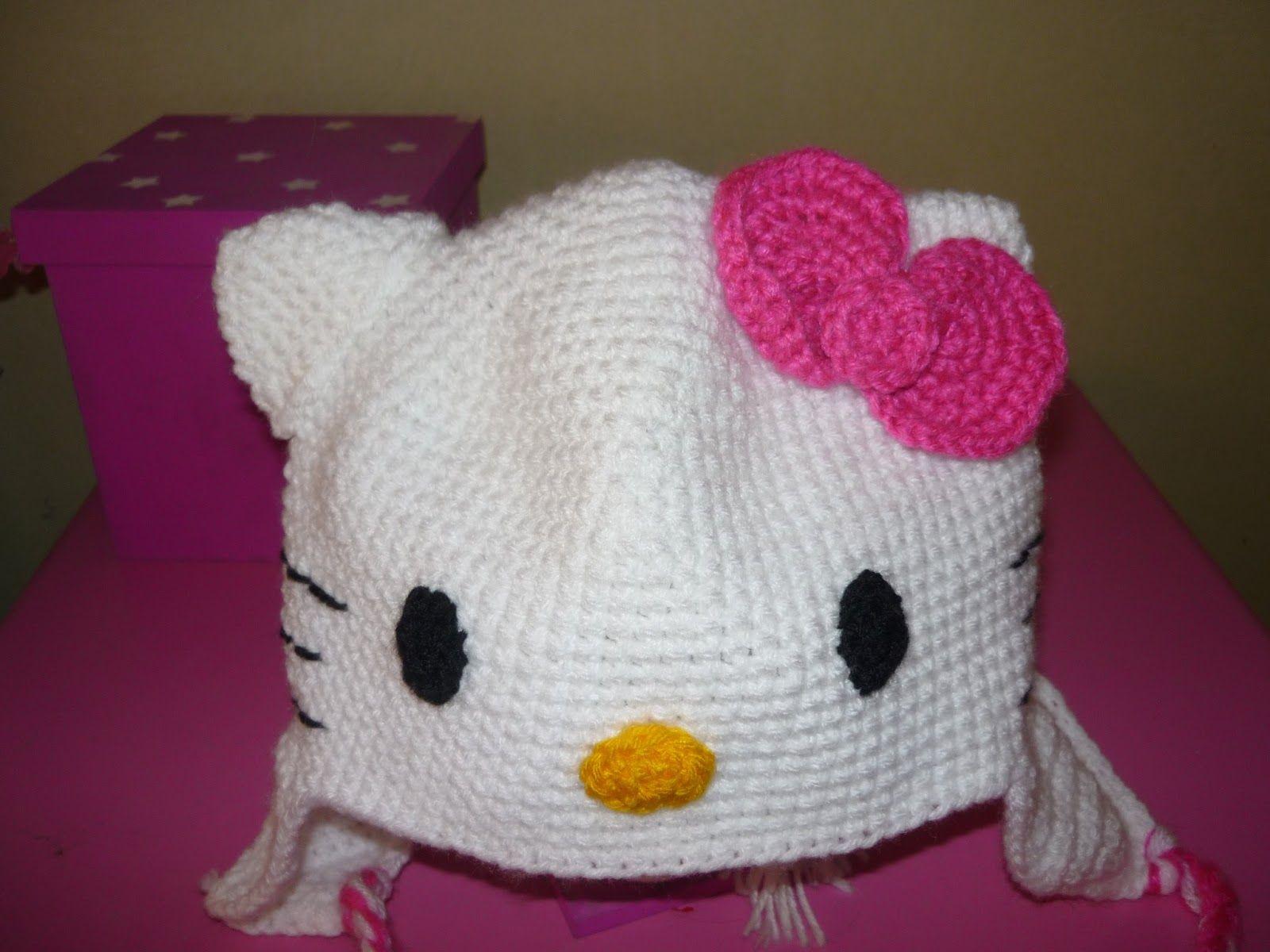 tejiendo a crochet bebes | gorro de kitty a crochet para mi hija ...