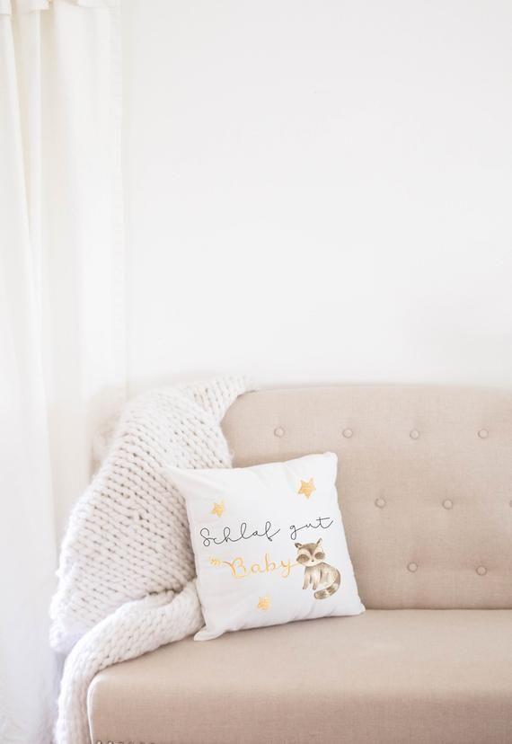 Schlaf Gut Babykissen Geburtskissen Mit Kleinem Waschbär