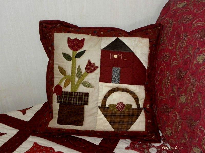 un coussin pour l 39 hiver patch et quilt pinterest. Black Bedroom Furniture Sets. Home Design Ideas