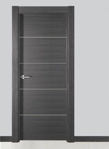 Puerta interior moderna wengue ibiza la fabrica canomar for Puertas de madera interiores minimalistas