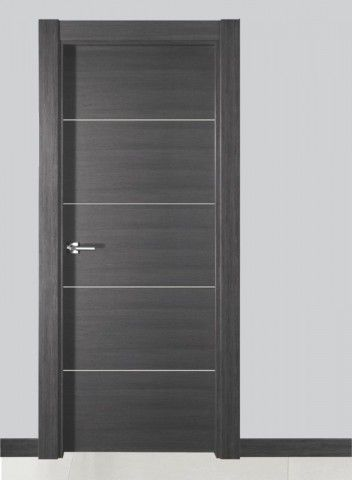 Puerta interior moderna wengue ibiza la fabrica canomar for Puertas de madera interiores modernas