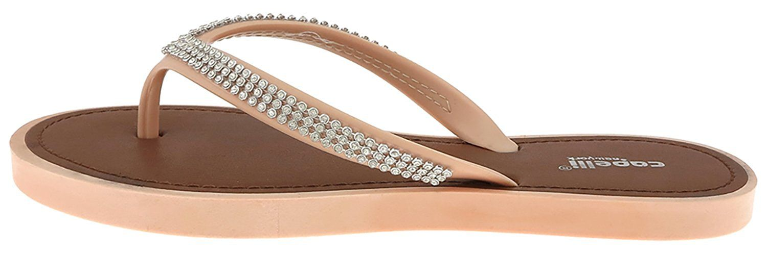 c2c7ad39910e Capelli New York Opaque jelly thong with rhinestone trim Ladies Flip Flop     Unbelievable item right here!   Jelly Sandals