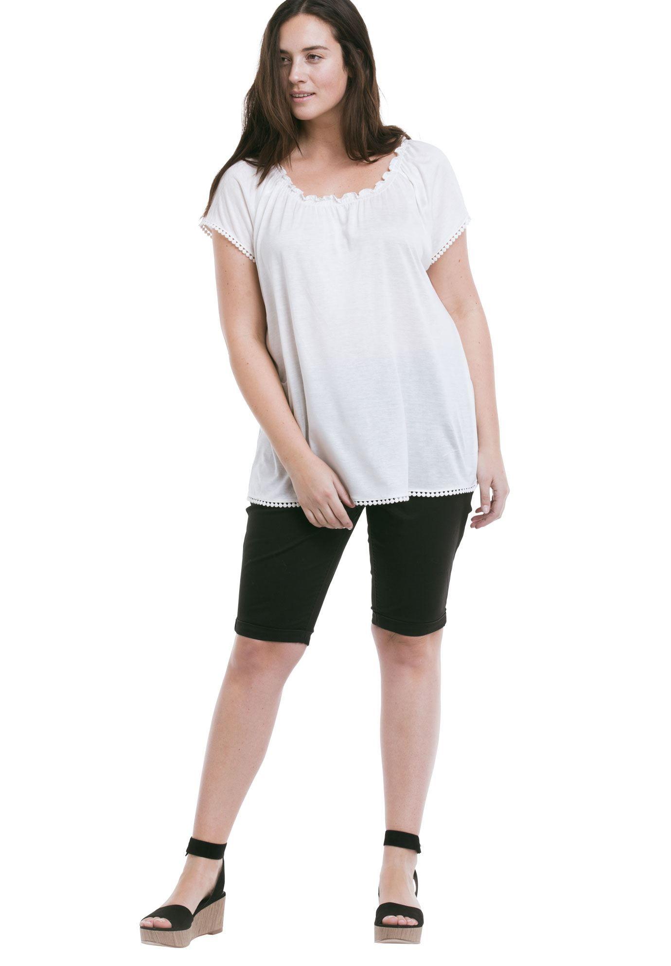 f6ada7bafb0 Twill Bike Shorts by Ellos - Women s Plus Size Clothing