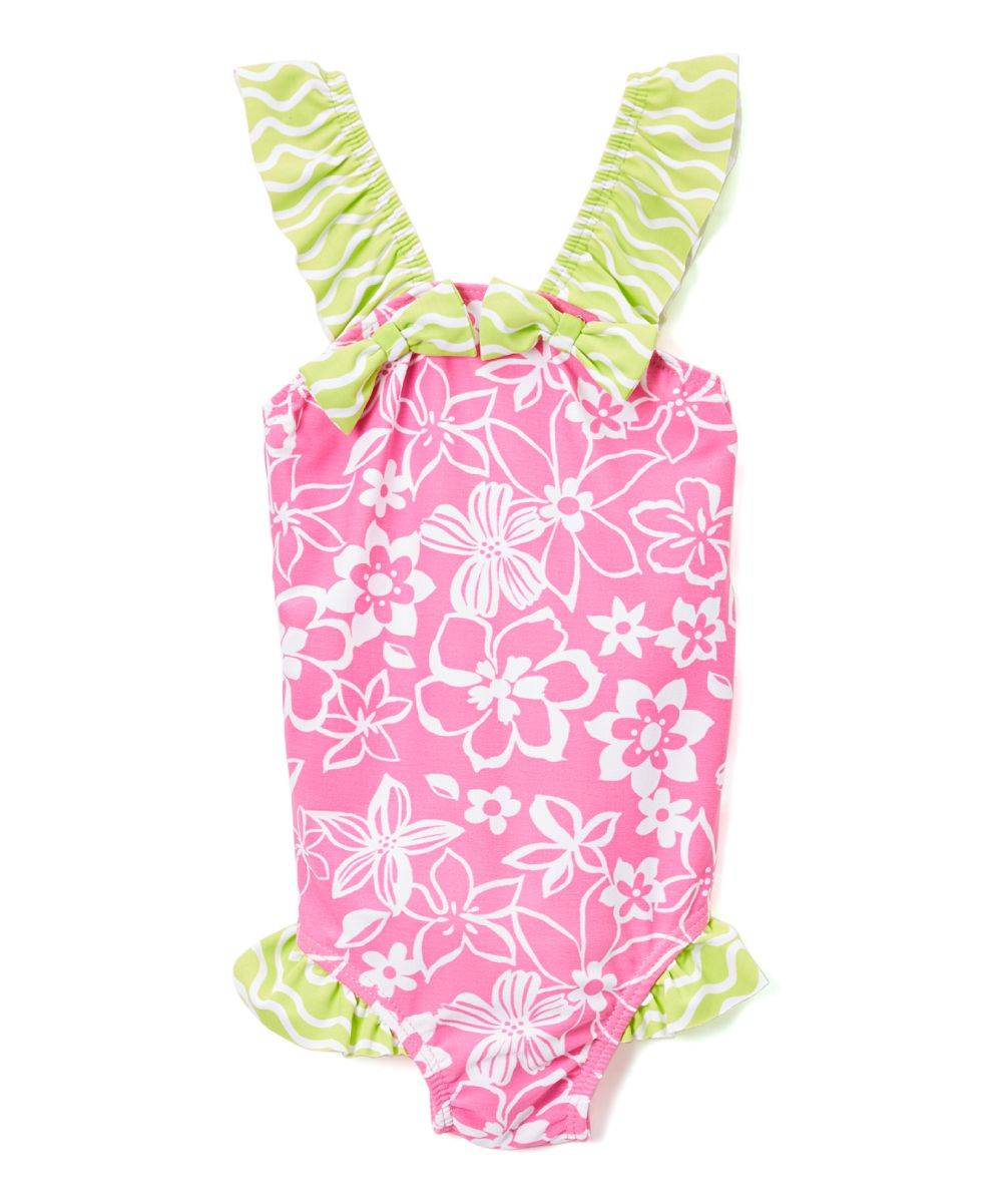 Hula Hibiscus Malia One-Piece - Infant Toddler & Girls