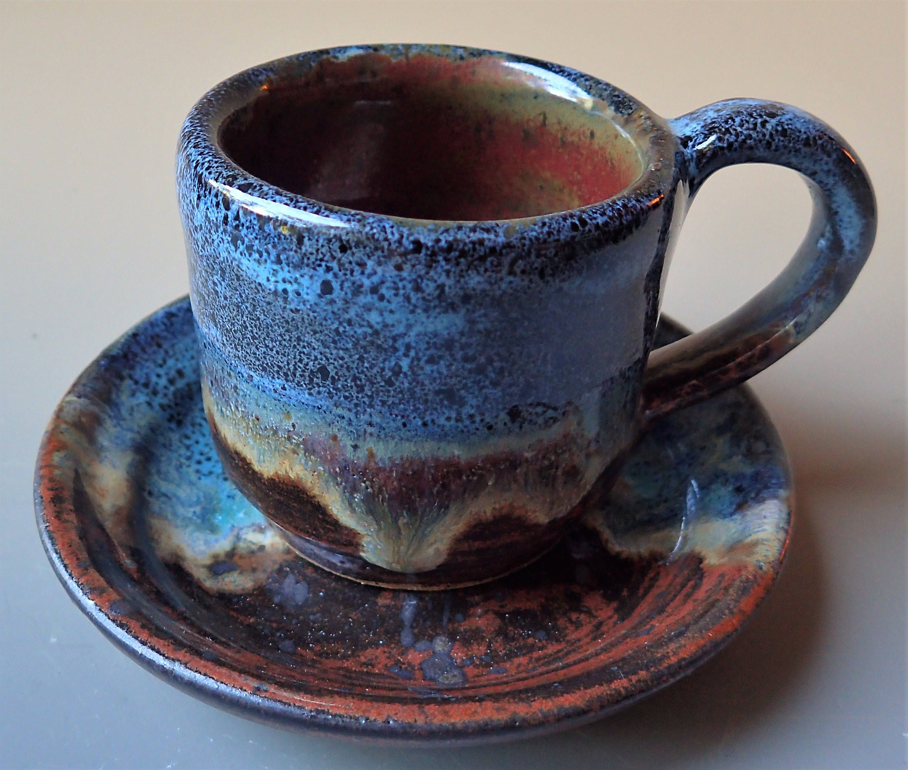 Espresso Cup and Saucer Double Espresso Size by