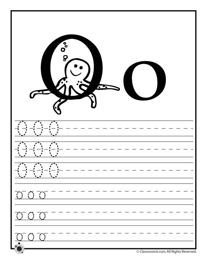 Learning Abcs Worksheets Learn Letter O Classroom Jr Kdo