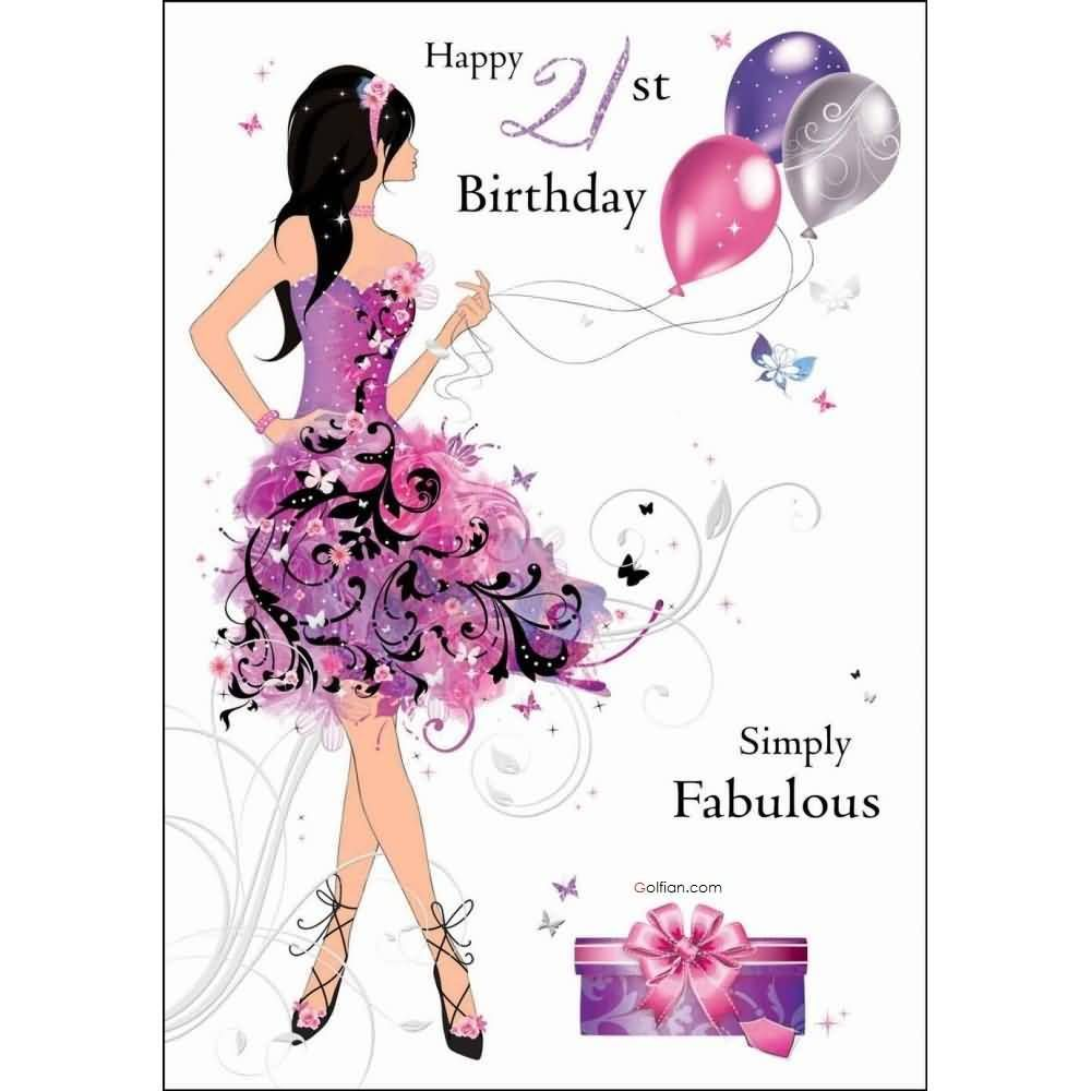 Lovely-E-Card-21st-Birthday-Wishes-For-Fabulous ...