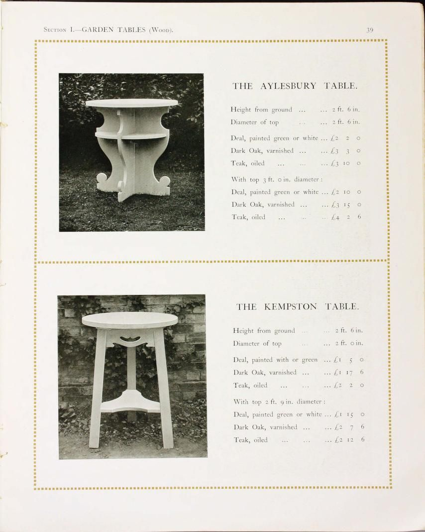 Garden furniture and ornament by John P  White, The Pyghtle Works