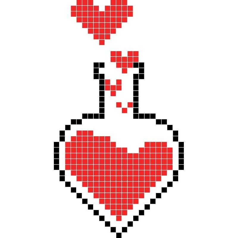 Philtre D Amour Dessin Pixel Dessin Carreau Modele Dessin Facile