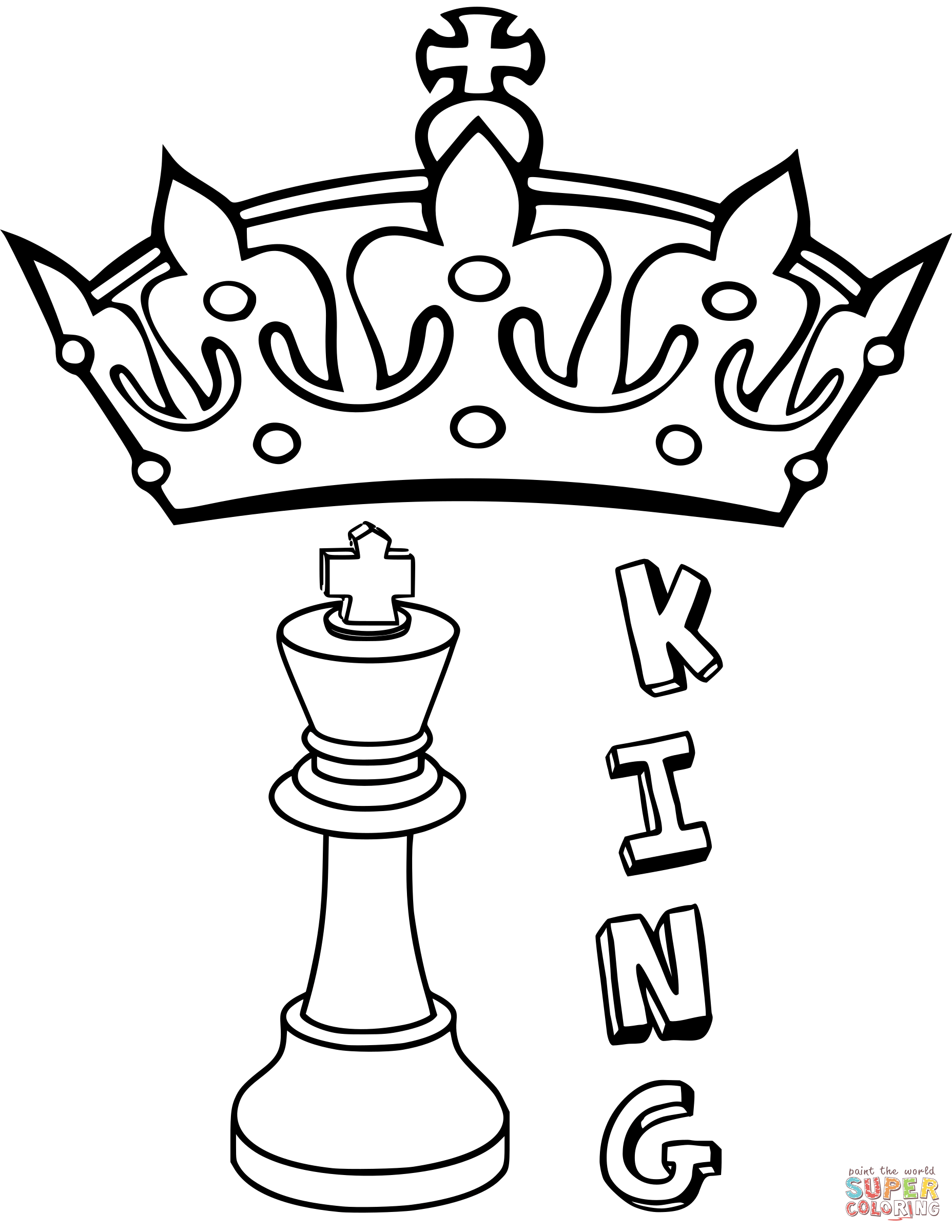 4 King Chess Piece Coloring Page Png 1855 2400 King Chess Piece Coloring Pages Chess King