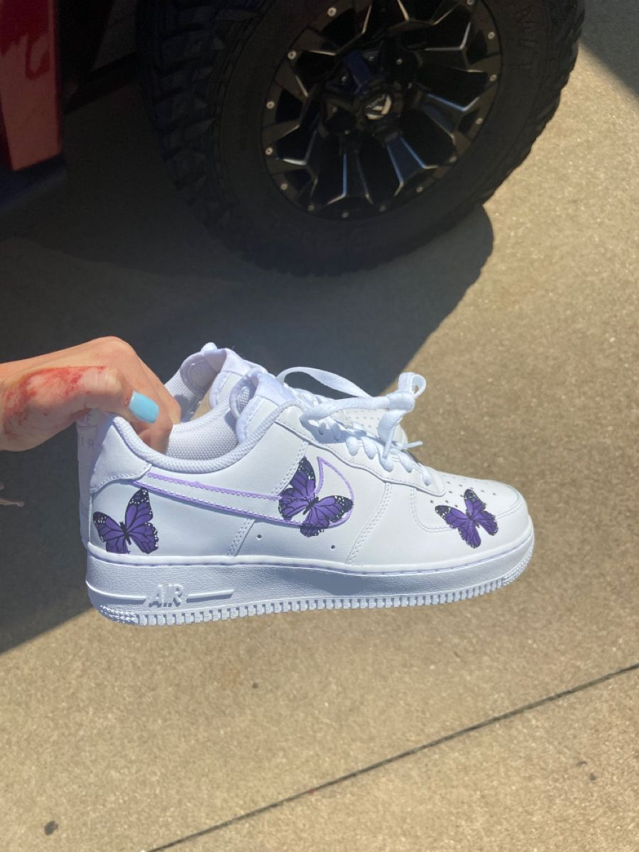 Purple butterfly AF1 🦋 in 2020 Custom shoes, Shoes, Purple