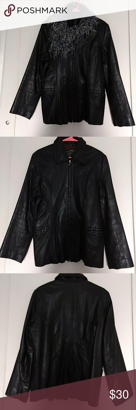 Weathervane Leather Jacket Shell Genuine Leather Lining 100 Polyester Filler 100 Polyester Leather Jacket Dress It Fashion Leather Jacket Dress Jacket Dress