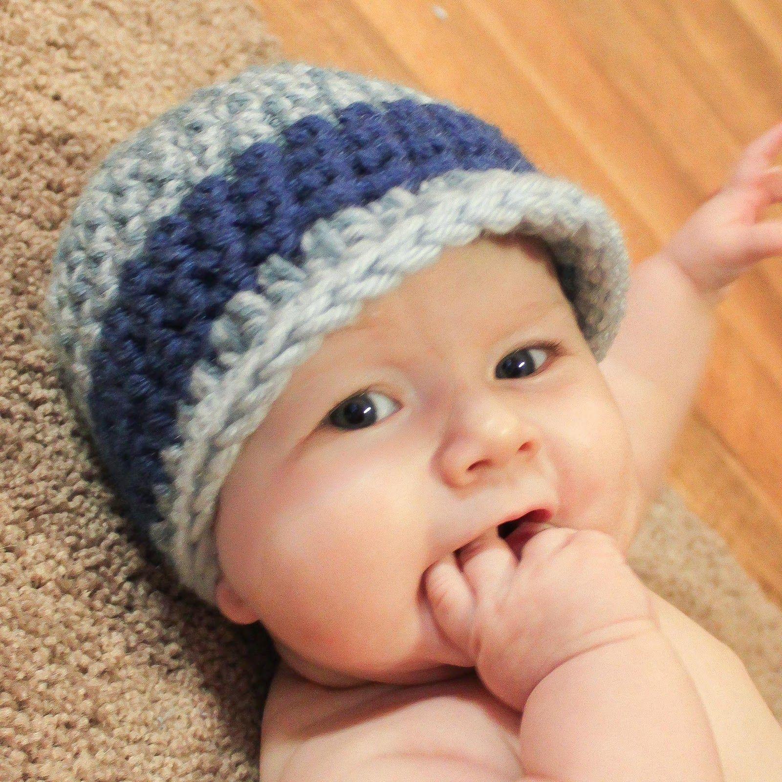 Free Crochet Baby Hat Patterns | little boy hat from the \