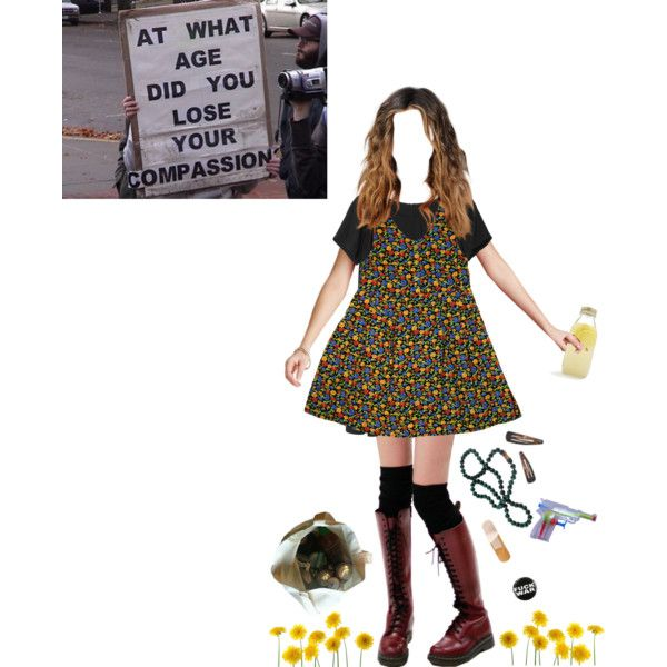 A fashion look from April 2015 featuring flower pattern dress, Monki und gold…