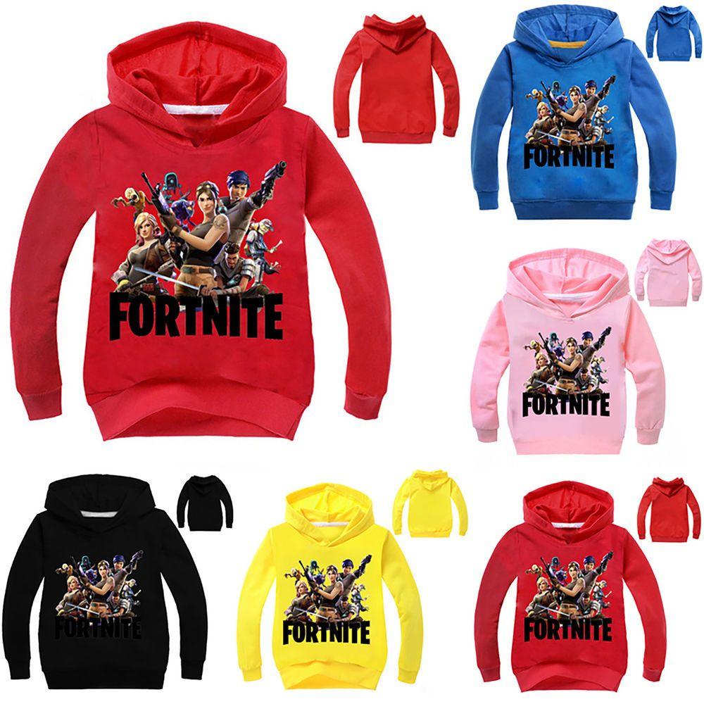 Kids Boy Girl Fortnite Hoodie Casual Cartoon Hoody Sweatshirt