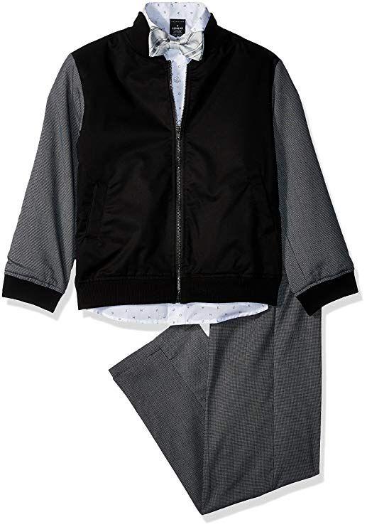 4418b9d4a633 Sean John Little Boys  Bomber Jacket Duo Suit Set with Bowtie ...