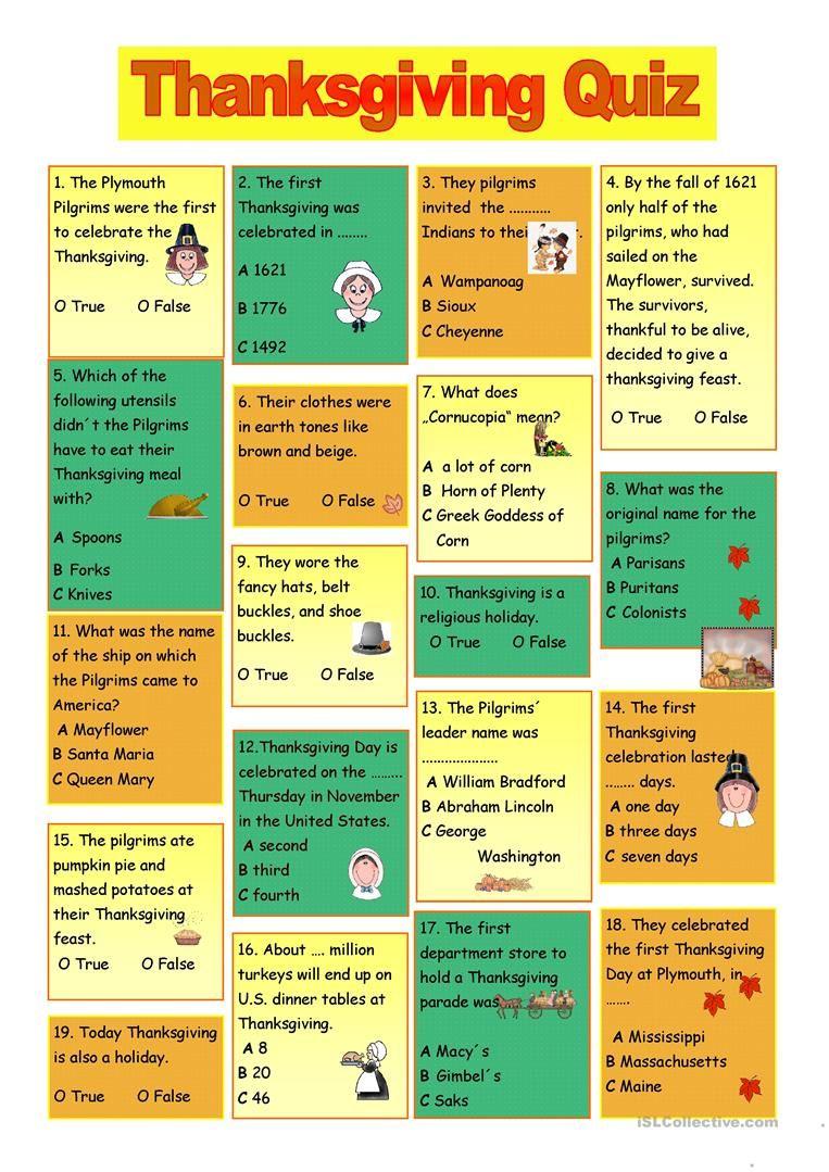 photo regarding Thanksgiving Quiz Printable known as printable thanksgiving trivia and solutions Thanksgiving