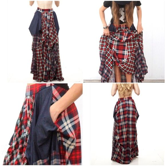 TOV plaid long skirt 🚫sold to neighbor/local NWT | Dress up ...