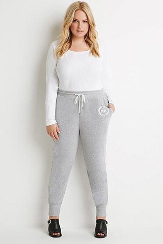 plus size love-embroidered sweatpants | sport outfits | pinterest
