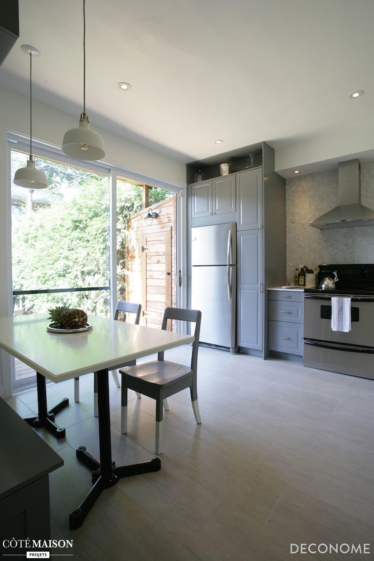 Une cuisine de 13m2 avec meubles ikea d co cuisine pinterest meubles ikea ikea et meubles for Meuble scandinave montreal