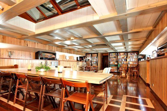 Houseboat Interiors houseboat interiors | the dutch barge was refitted in cherry