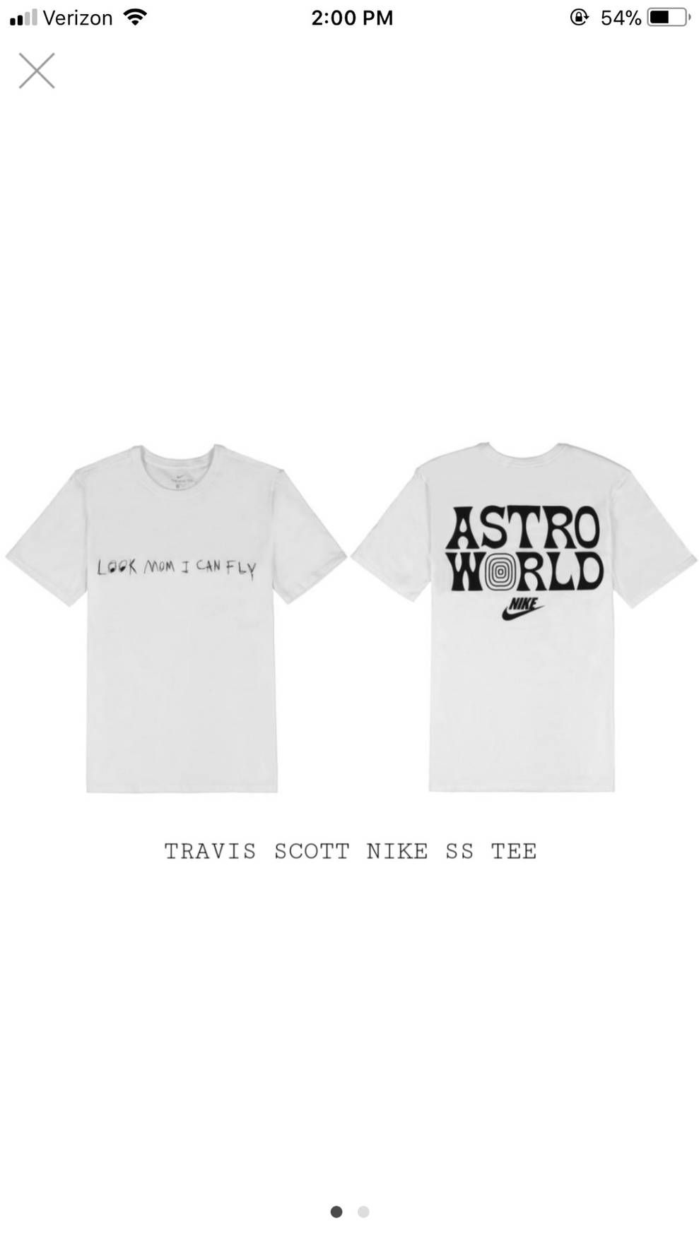 9ce6df95865483 Nike Travis Scott Nike SS Tee 4 Astroworld Large Size US L   EU 52-54   3