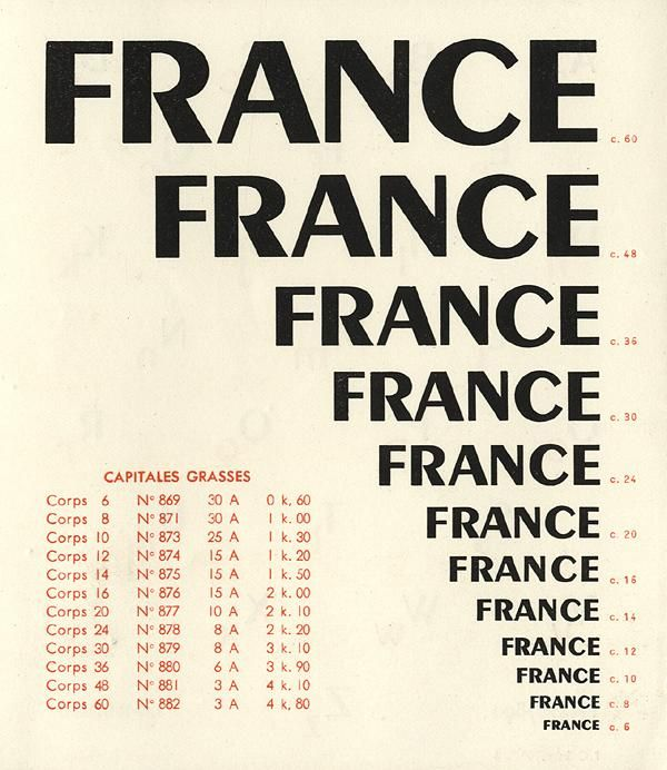 Great Graphic Design Quotes: Especimen Tipográfico Touraine - A.M.Cassandre
