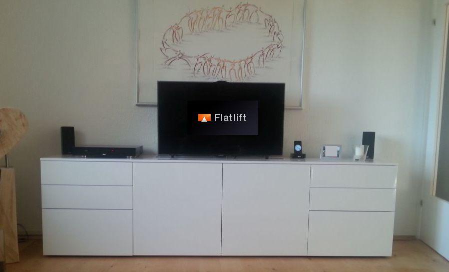 Tv Hebesystem Pop Up Economy Tv Lift Tv Hebesystem Flatlift Tv Lift Systeme Gmbh Tv Mobel Fernseher Im Schlafzimmer Diy Tv Mobel