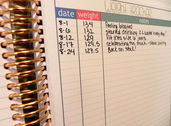 This adorable and super functional weight tracking insert is sized to fit your Erin Condren Life Planner beautifully. Each side includes space for