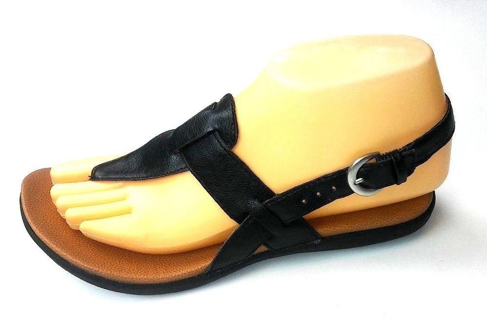 4c92905018e BOC Born Concept Womens Thong Sandals Size 6 Black Slingback  Born   FlatSandals
